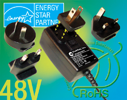 Interchangeable Blade Power Adapter 48V