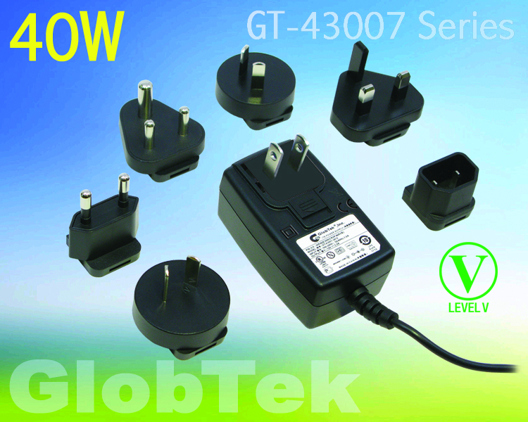 ITE Power Supply has Interchangeable Plugs for International Acceptance
