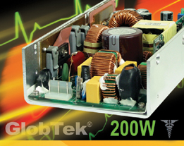 Medical Power Supplies and ITE Power Supplies 4 x 8 in.  0-200 Watt