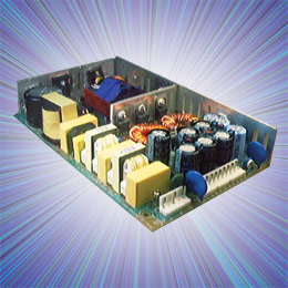 Open frame 200W 'high reliability' switchmode power supplies with active PFC. These low profile (178 x 108 x 30 (mm) ) integral heat sink, convection-cooled models offer up to 200W of regulated...