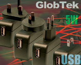 Fix blade Wall Plug-In North America/Japan, Europe, U.K., Korea and Australia/NZ re Class II, Double-Enforced Insulation Mechanical Configurations, Regulated Output voltage: 5V @ 1A for 5W of continuous...